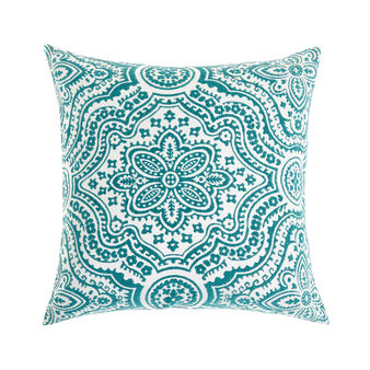 Medina print cotton cushion