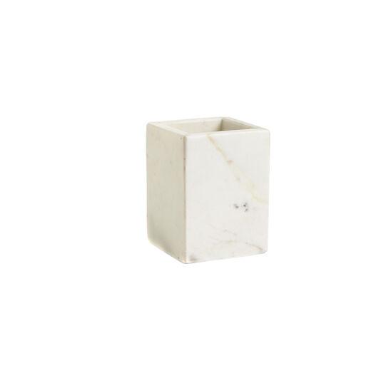 Portaspazzolino Marmo Bianco