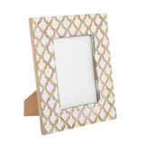 Hand-engraved wooden photo frame