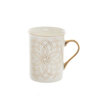 Mug in New Bone China with Morocco decoration