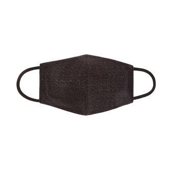Mascherina lavabile tessuto denim nero