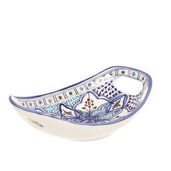 UNIDO handmade oval ceramic plate