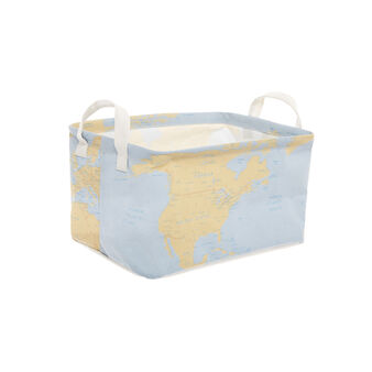 Basket with map decoration