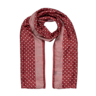Koan polka dot foulard in pure silk