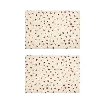 Set of 2 floral cotton placemats
