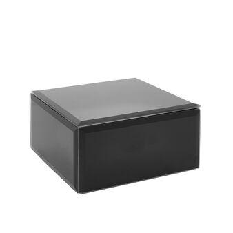 Black glass jewellery box