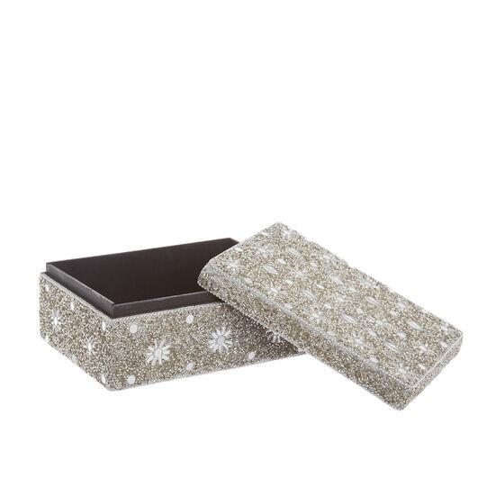 Handmade jewellery box with beads