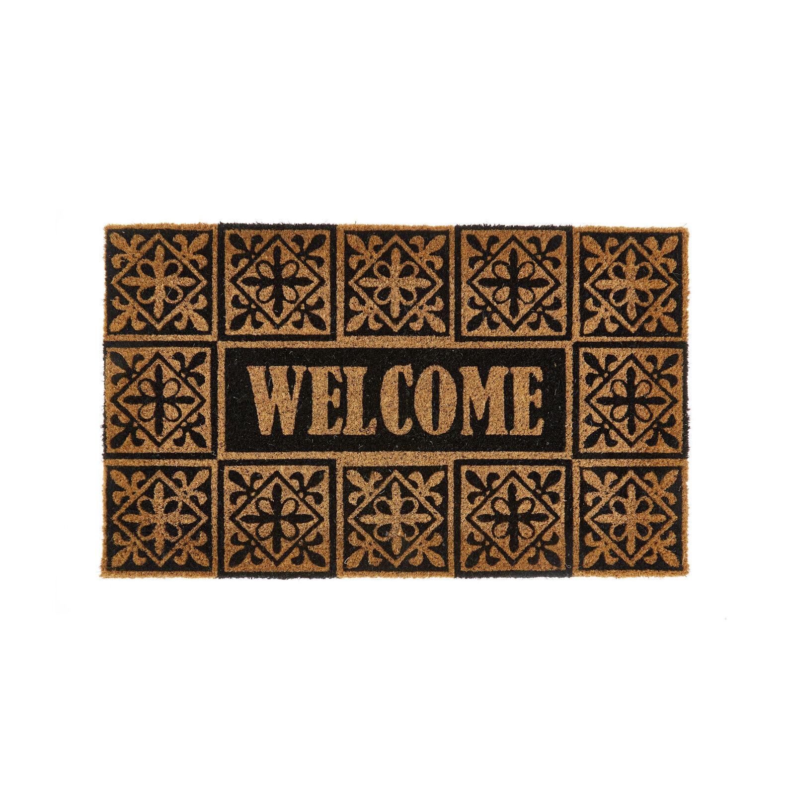 Welcome doormat in coconut
