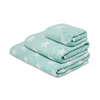Towel in zero twist terry with stars