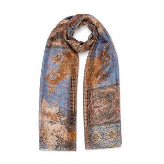 Koan cashmere print silk scarf