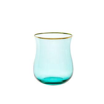 Bicchiere in vetro con filo oro