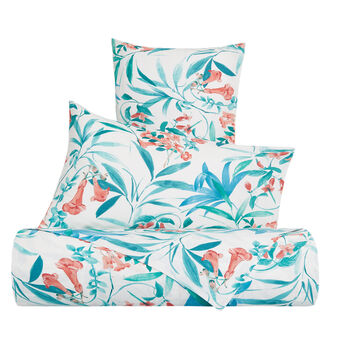 Organic cotton duvet cover with leaf pattern