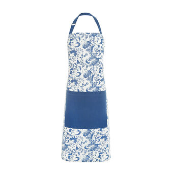 Kitchen apron in 100% cotton with floral print