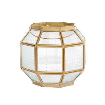 Detailed glass and metal lantern