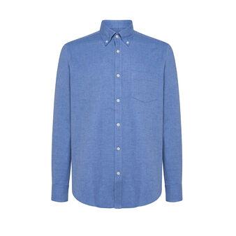 Camicia button-down regular fit in cotone organico