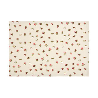 100% cotton table mat with floral print