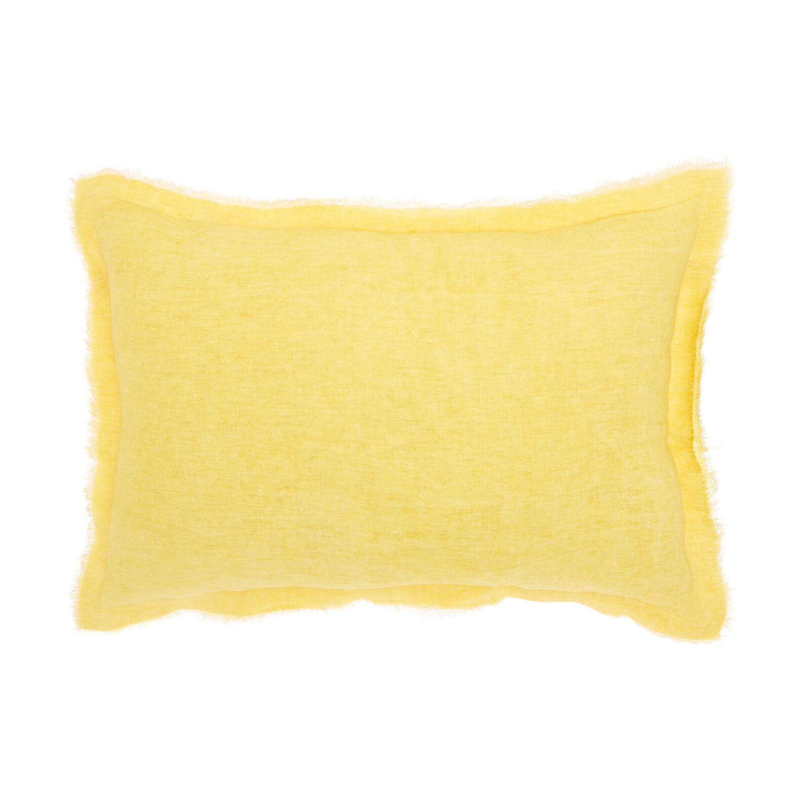 Solid colour 100% linen cushion 35x55cm