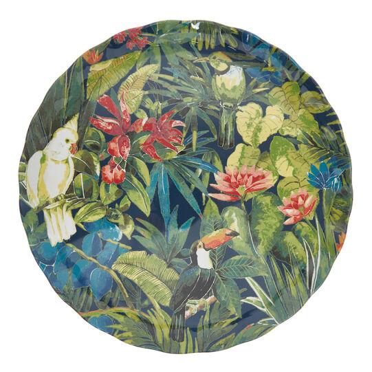 Tropical motif melamine serving plate