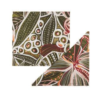 Set 2 tovaglioli puro cotone stampa amazzonia