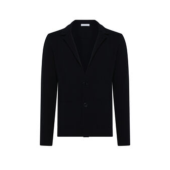 Luca D'Altieri solid colour jacket in ecological fabric