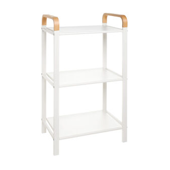 Cupboard with 3 shelves in iron and bamboo