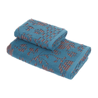 100% organic cotton towel with floral design