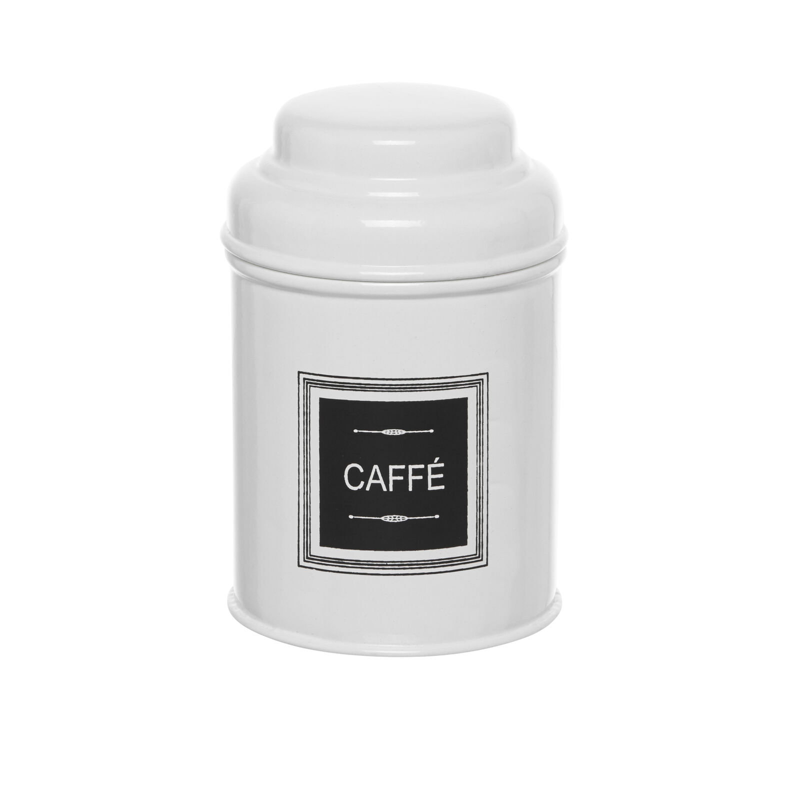 Barattolo CAFFÈ in metallo smaltato con coperchio