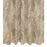 Tenda misto cotone motivo foglie passanti nascosti