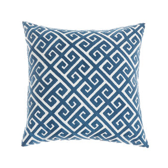 Cushion with geometric embroidery
