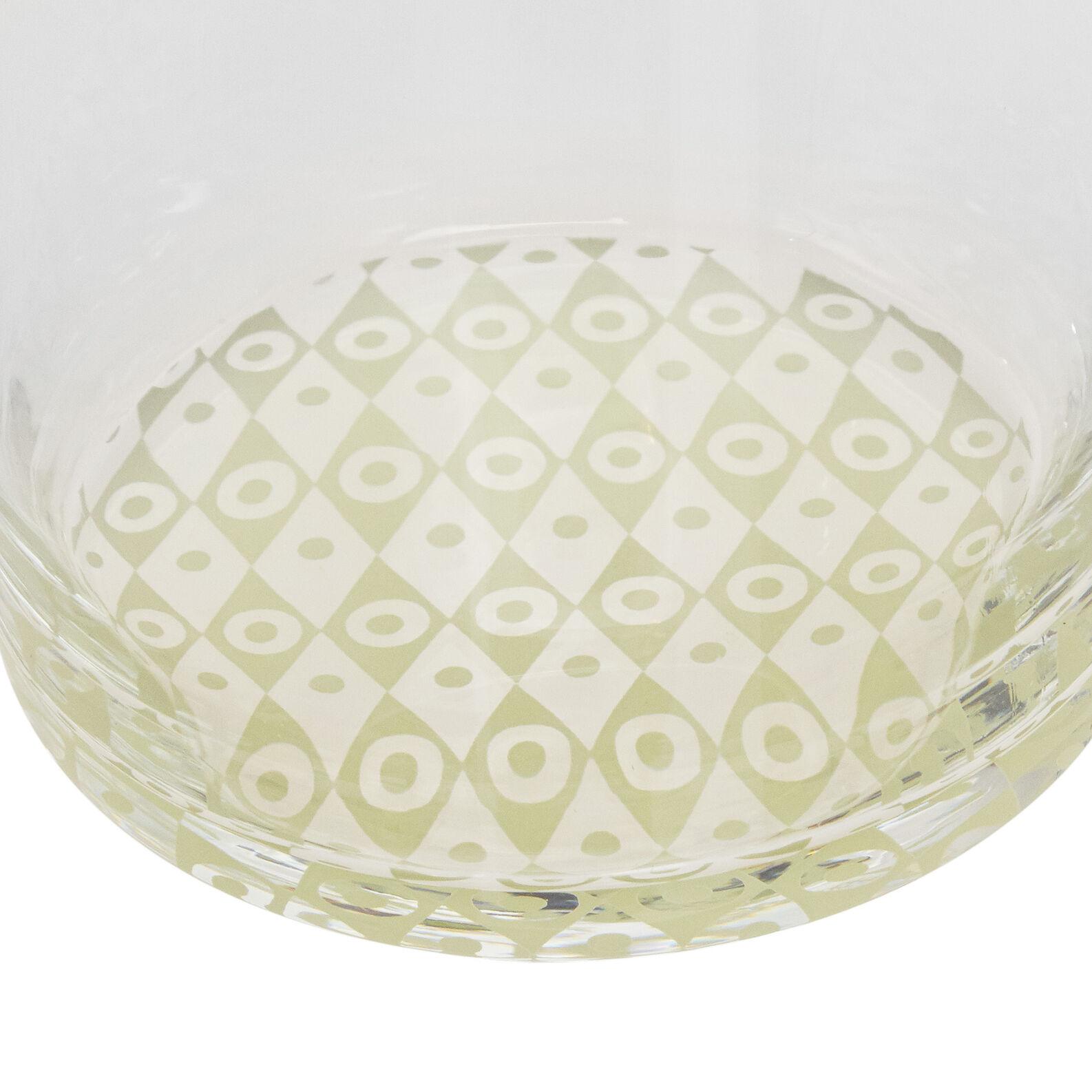 Bicchiere acqua vetro base geometrica