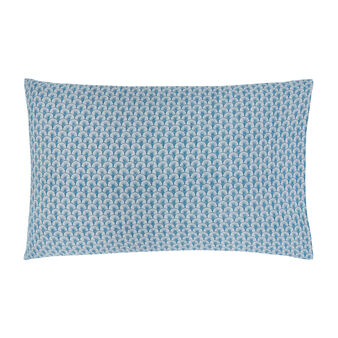 Cotton percale pillowcase with fan pattern