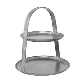 Cake stand in galvanised iron