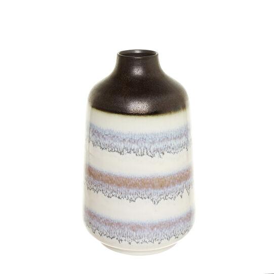 Vaso bottiglia in ceramica a righe