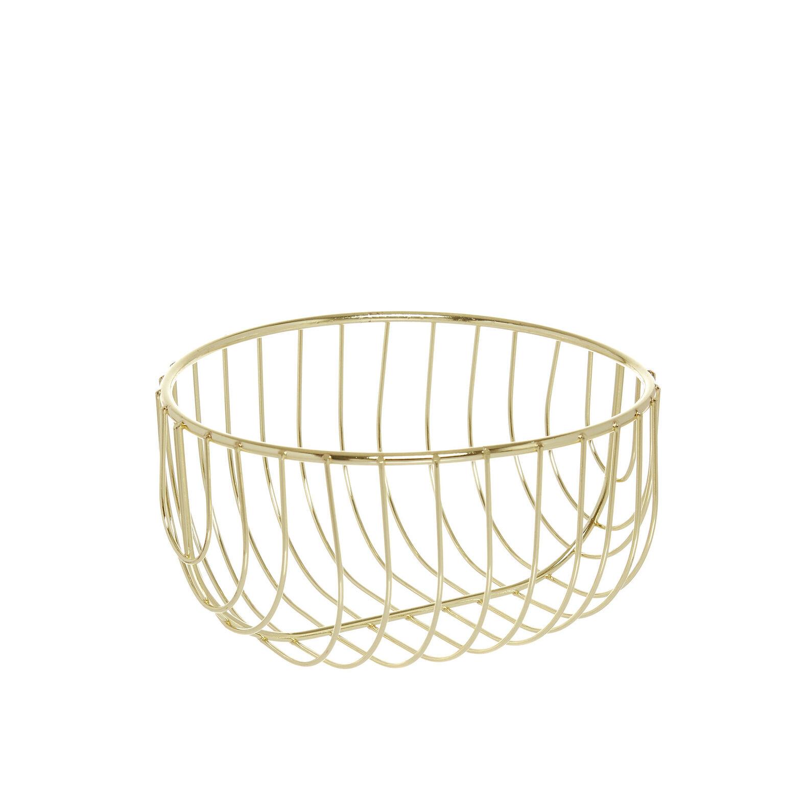 Gold wire bread basket