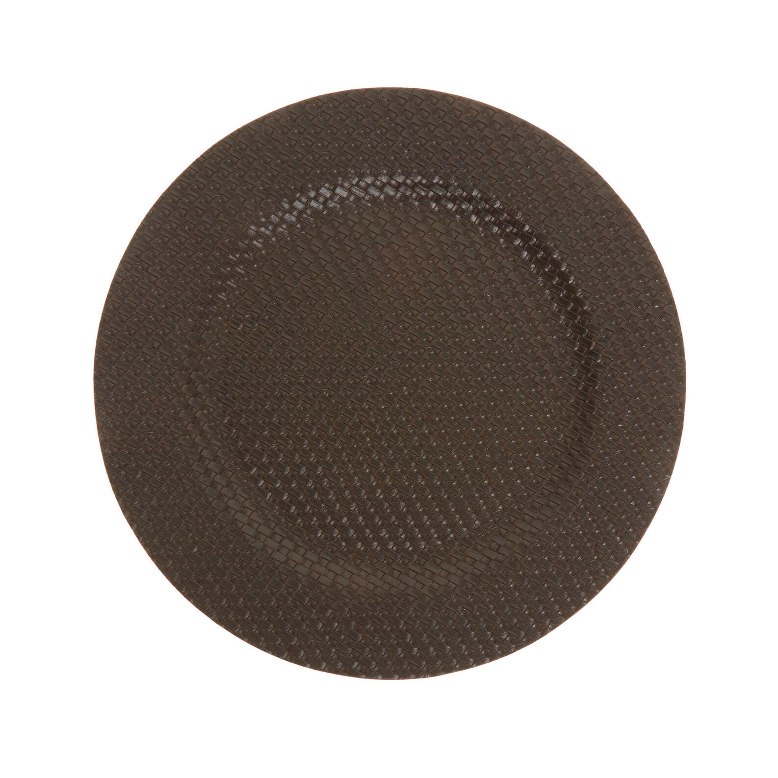 Woven plastic charger plate