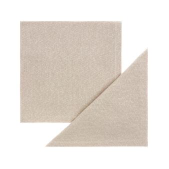 Set 2 tovaglioli puro cotone con lurex