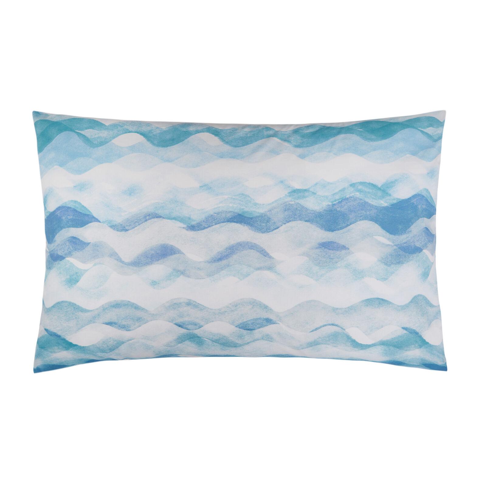 Organic cotton pillowcase with wave pattern