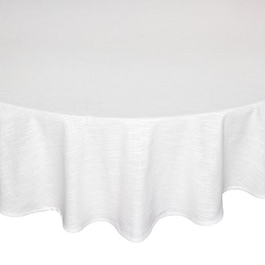 Plain iridescent cotton table cloth