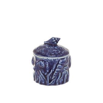 Barattolo porcellana decoro marino