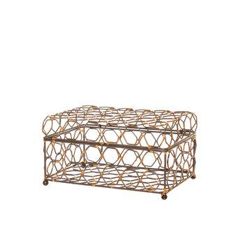 Jewellery box in hexagonal soldered metal wire