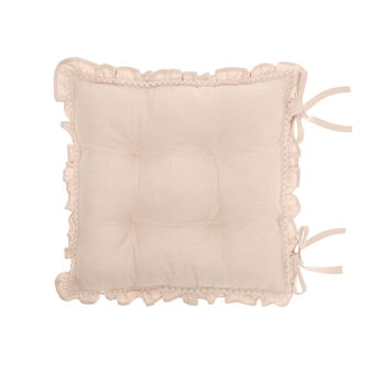 100% cotton seat pad with frill