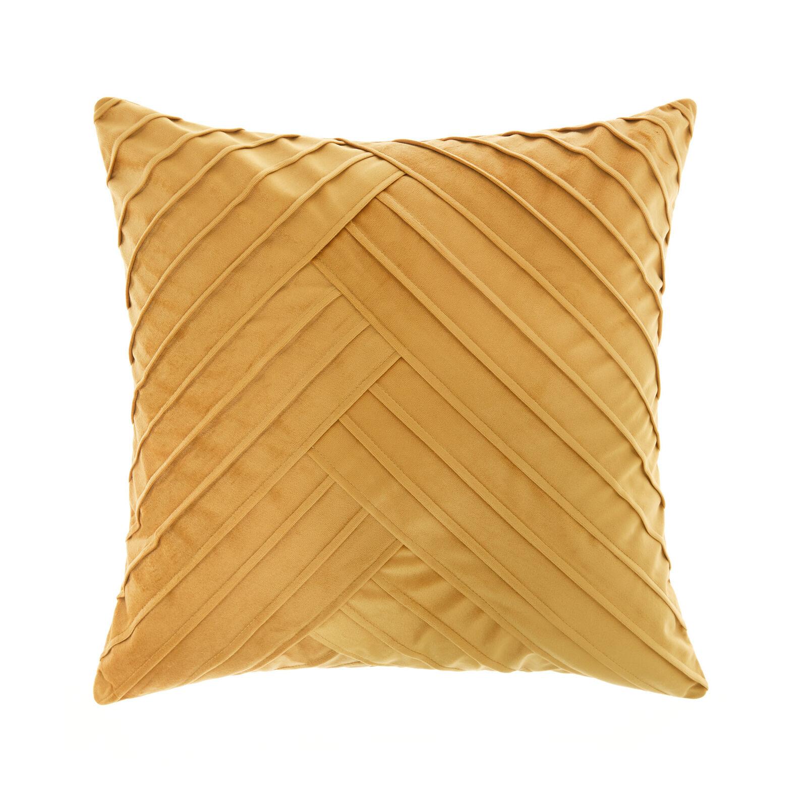Pleated velvet cushion 45x45cm