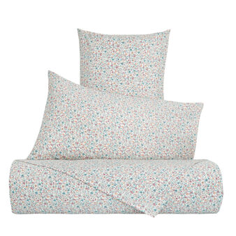 Cotton percale duvet cover with micro floral pattern