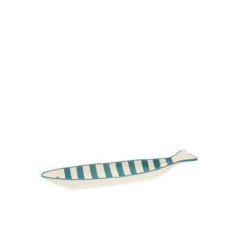 Stoneware fish-shaped dish