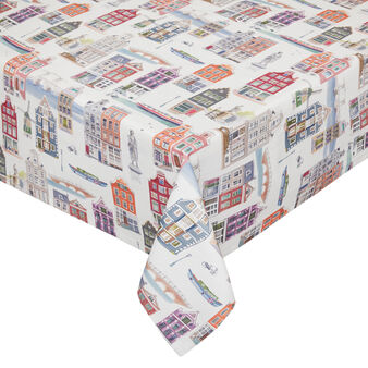 100% cotton tablecloth with Amsterdam print