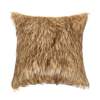 Long fur-effect cushion
