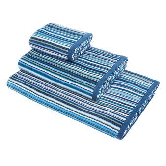 Asciugamano cotone velour fantasia a righe