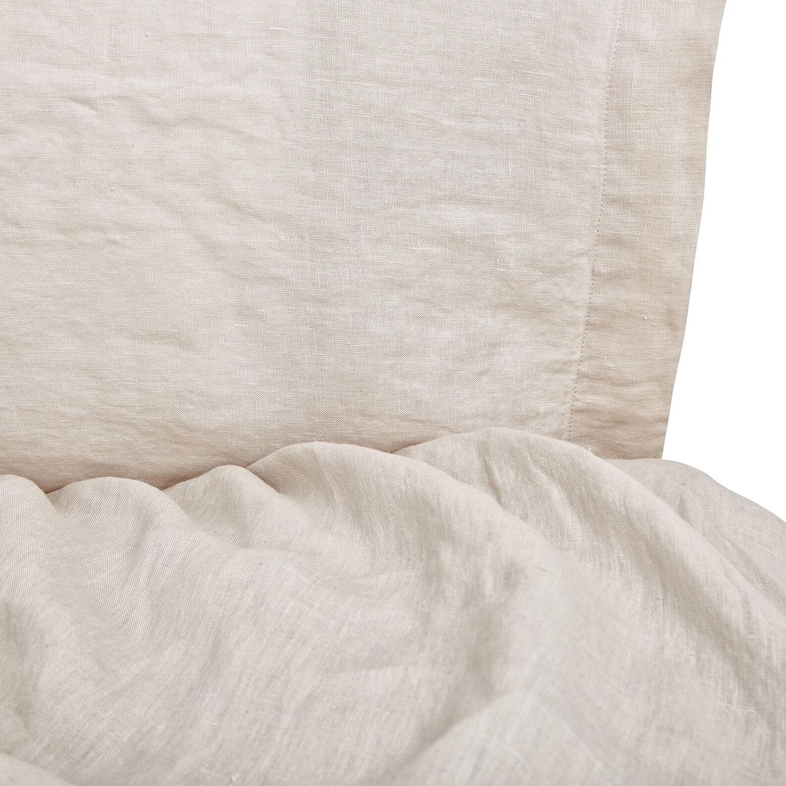 Plain flat sheet in 145 g linen