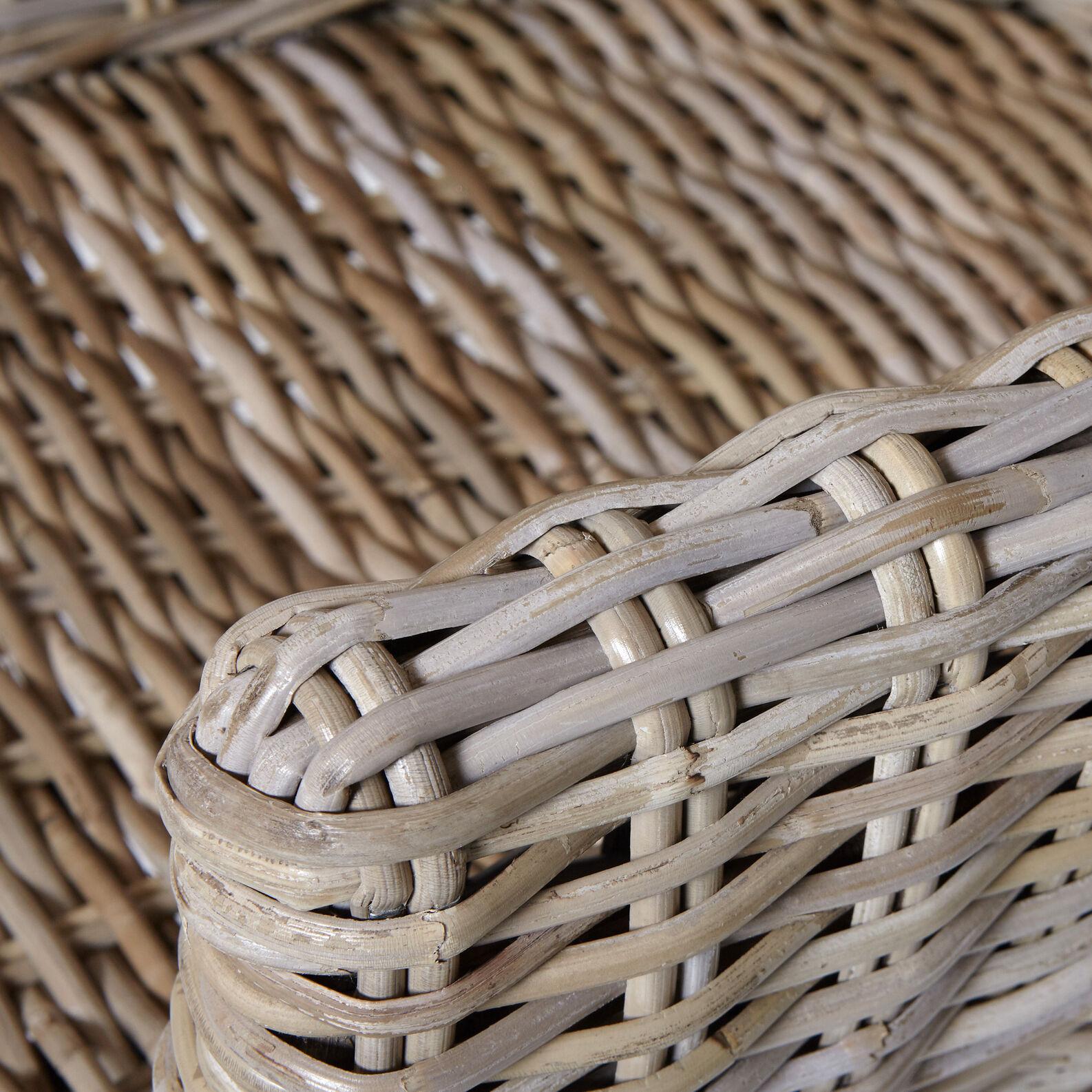 Bungalow armchair in hand-woven rattan