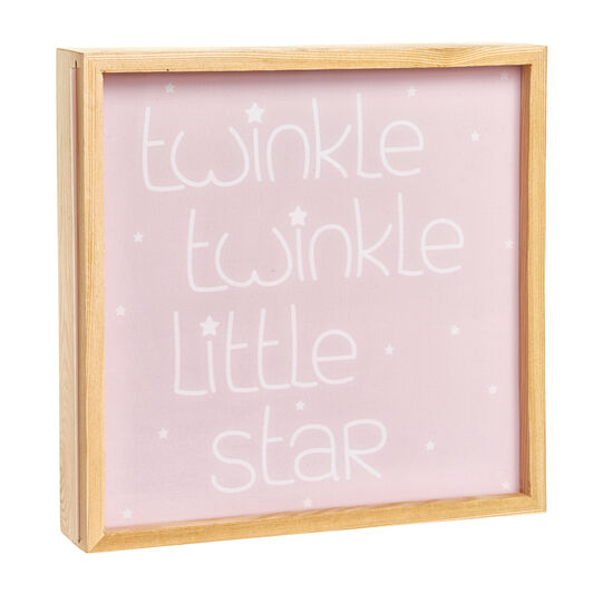 Wooden LED light box with Twinkle Twinkle Little Star lettering